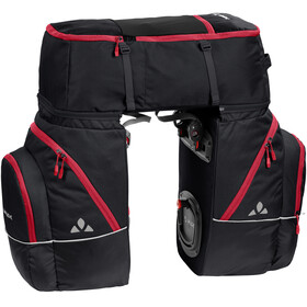 VAUDE Karakorum Pannier Set 3 Pieces black/red